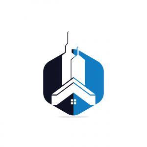 Real estate vector logo design. Building logo design. Building Estate Logo with Skyscrapers.