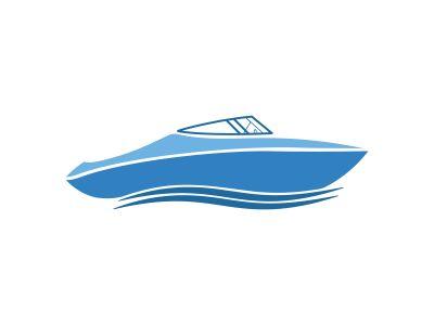 Sailing boat vector logo design. Sailing boat icon symbol.Ocean Ship - sign concept