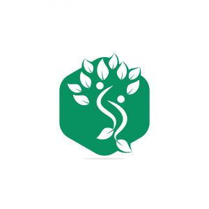 Healthy people vector logo design. People tree eco and bio icon human character icon nature care symbol.