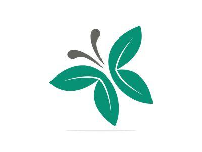 Butterfly vector logo design. Beauty salon vector logo creative illustration