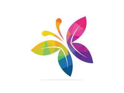 Butterfly vector logo design. Beauty salon vector logo creative illustration.