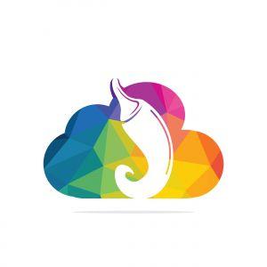 Chili and cloud vector logo design.Hot food logo concept vector. Hot chili icon symbol.