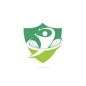 Healthy people logo design.Human life logo icon of abstract people leaves vector.