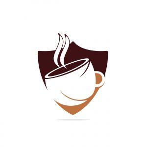 Coffee cafe vector logo design. Unique coffee cup icon logo template.