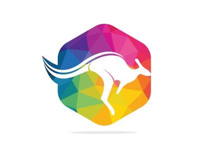 Kangaroo vector logo design. Creative kangaroo nature logo design concept.