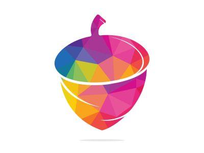 Creative Acorn Concept Logo Design Template. Acorn logo illustration vector template.