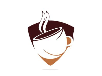 Coffee cafe vector logo design. Unique coffee cup icon logo template.