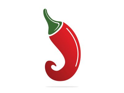 Chili hot and spicy food vector logo design inspiration. Chili pepper icon vector logo template.