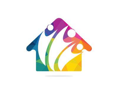 Community home logo. Adoption and community care center.