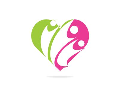 Adoption and Community care Logo. Simple concept for colorful community people heart logo.