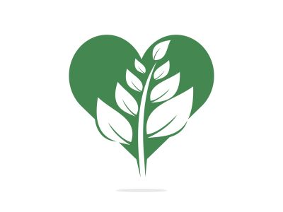 Heart Tree logo design. Love Tree logo design. Ecology Happy life Logotype concept icon.