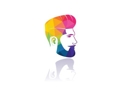 Man with beard hipster barbershop vector emblem. Bearded man's face, hipster character.