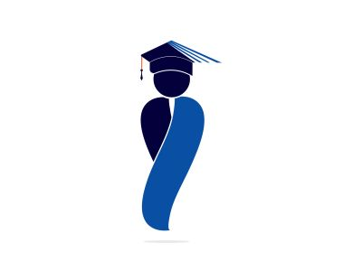 Student vector logo design. School, University or Educational institute logo.