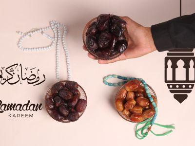 Ramadan Mubarak ,Poster, Flyer, Brochure, Design photography on light pink background.