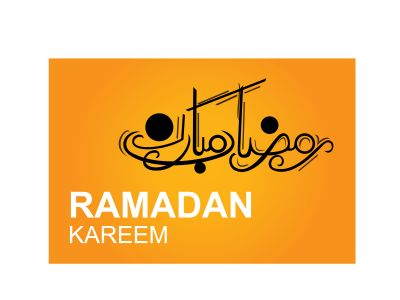 Ramadan Mubarak ,Poster, Flyer, Brochure, Design photography on orange background.