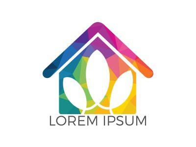 Spa home logo lotus wellness salon and business spa logo. Business spa logo massage healthy design template concept.