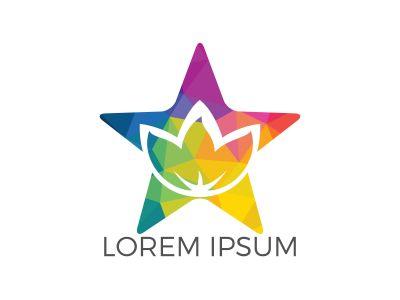 Star spa logo lotus wellness salon and business spa logo. Business spa logo massage healthy design template concept.