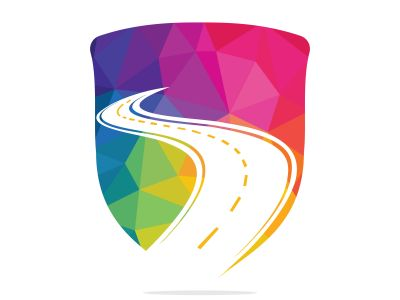 Creative road journey logo design. Road logo vector design template.
