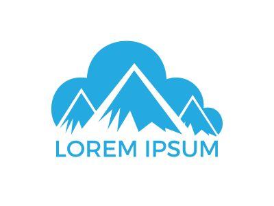 Mountain Sky Cloud Logo Design.