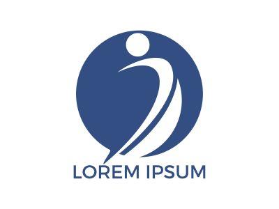 Therapeutic and Holistic health center logo design. Human health and medical center logo design template.