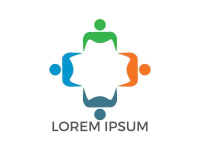 Human Character group and team vector logo design. Business and Community logo. Teamwork symbol. Social logo. Partnership people icon.