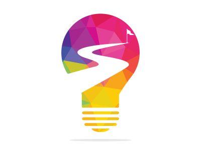 Way to success vector logo design. Business finance design concept template.