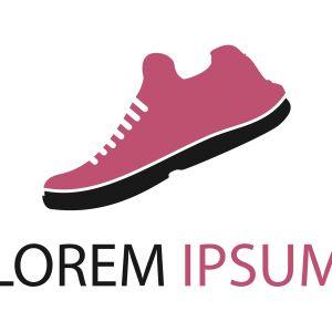Man shoes logo design template vector image.