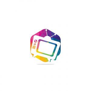 tv vector logo design .