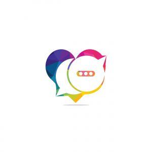 chat  vector logo design .
