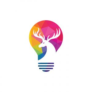 deer vector logo design .
