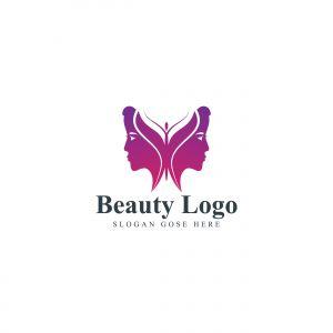 natural face vector logo design .