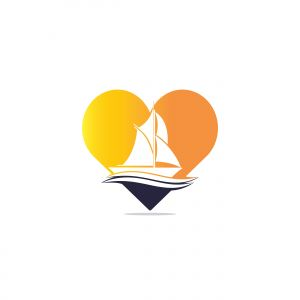 boat vector logo design .
