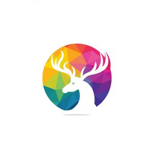 deer vector logo design .