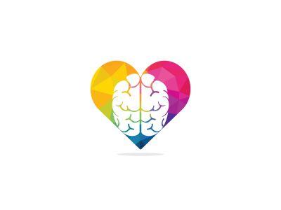 brain vector logo design .