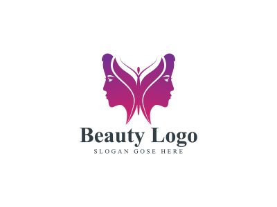 natural face vector logo design .