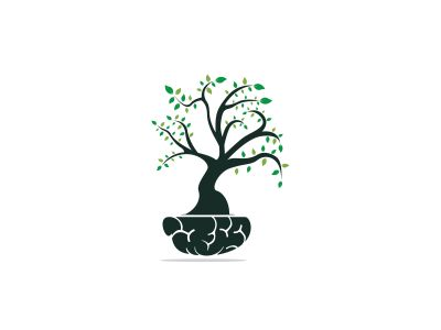 tree vector logo design .