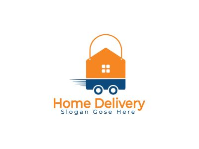 home delivery vector logo design .