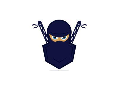 ninja vector logo design.