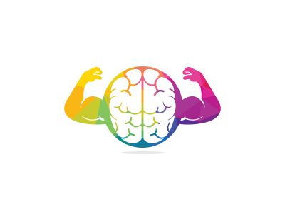 smart brain vector logo design .