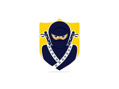 ninja vector logo design.