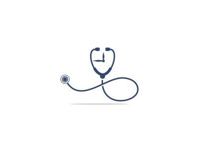 stethoscope vector logo design .