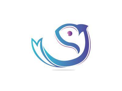 fish vector logo design .