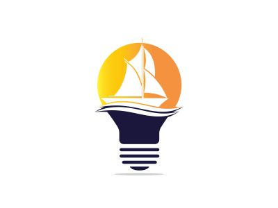 boat vector logo design .